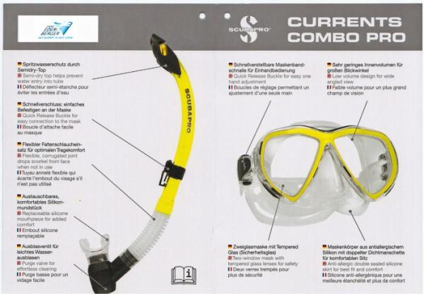Scubapro Currents Combo Pro Schnorchel-Set