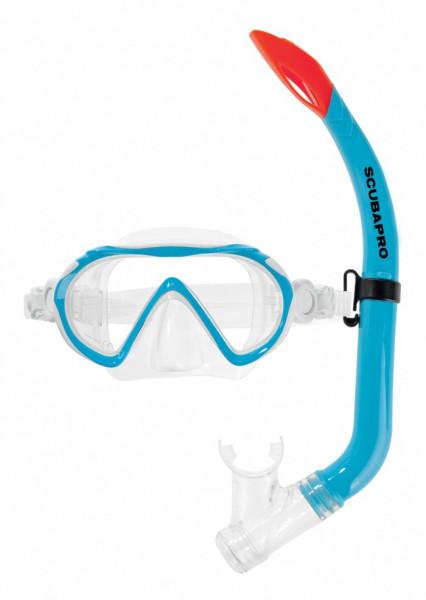 Scubapro Spider Combo Set Kinderset blau