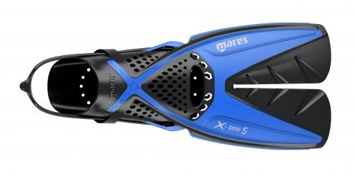 Mares X-OneS Splitfin Schnorchelflossen blau