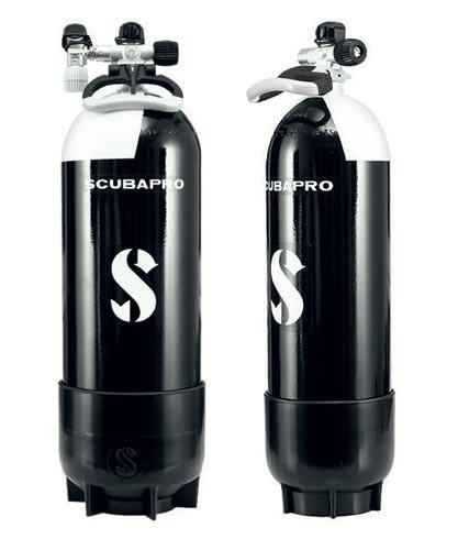 Scubapro 10l PTG/Tauchflasche mit Standfuss und Ventil