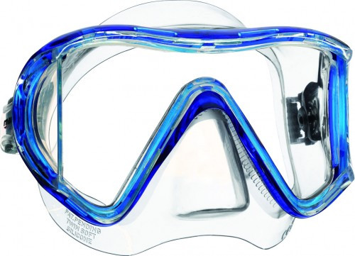 Mares i3 Tauchermaske / Einglasmaske blau